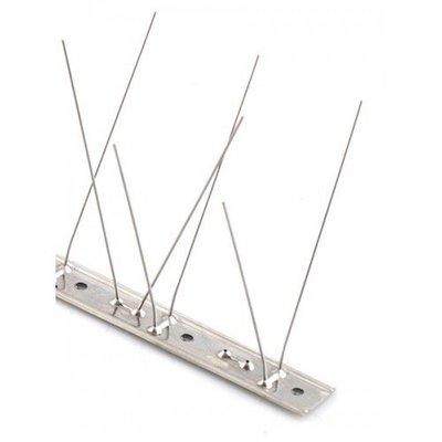 Duivenpinnen op RVS-strip van 100 cm, met 60 RVS pinnen, MIC760 - 1 mt/st