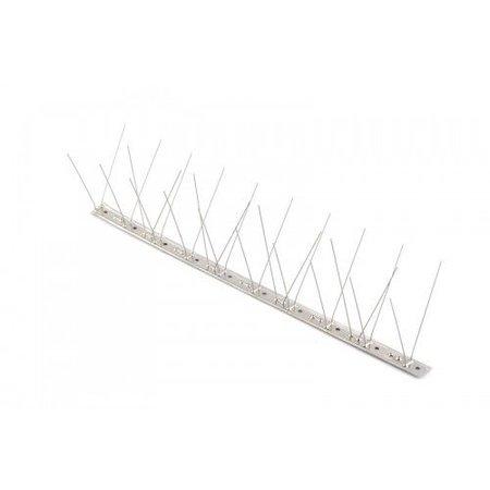 Duivenpinnen MIC760 op RVS-strip van 100 cm, met 60 RVS pinnen - 1 mt/st