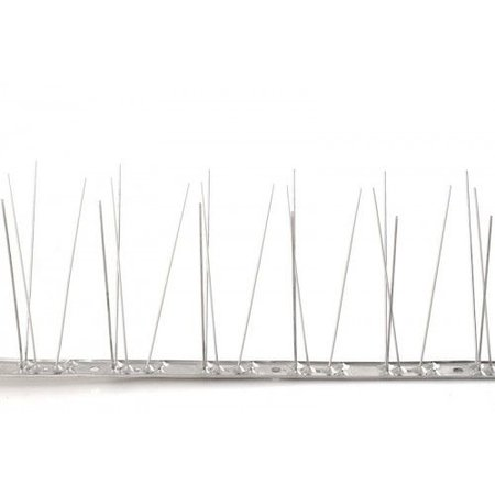 Bird spikes on STAINLESS STEEL base of  100 cm, with 80 SS  spikes, MIC780 - 1m/pc