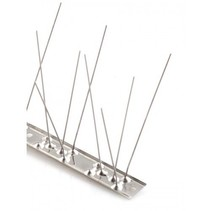 Bird spikes on STAINLESS STEEL base,  with 80 SS spikes, MIC780 - 1 m/pc