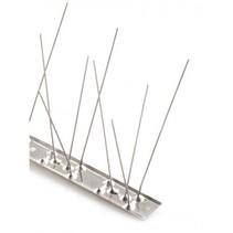 Duivenpinnen MIC780 op RVS-strip, met 80 RVS pinnen - 1 mt/st