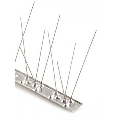 Anti-pigeon bird spikes on STAINLESS STEEL-strip 1x 100 cm with 80 spikes, MIC780