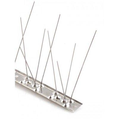 Duivenpinnen op RVS-strip 100 cm, met 80 RVS pinnen, MIC780 - 1 mt/st.