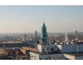 Duivenpinnen op toren R.U.G. te Groningen