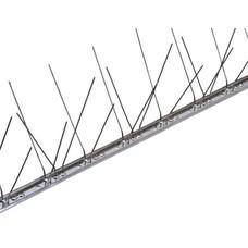Duivenpinnen op niet flexibele RVS-strip 100 cm, 60 RVS pinnen, MIC260 - 1 mt/st