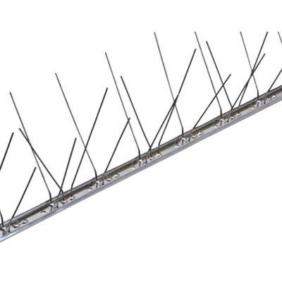 Duivenpinnen op niet flexibele RVS-strip 100 cm met 60 pinnen, MIC260 - 1 mt/st