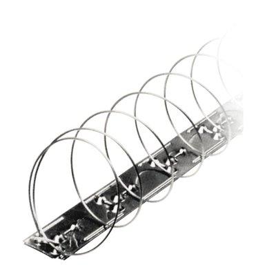 Duivenwerende veer op RVS strips MIC327 / alternatief voor duivenpinnen - blister van 4 veren - goed voor 5 mt