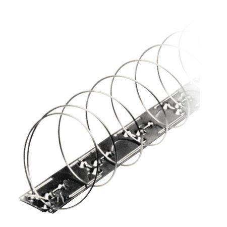 Duivenwerende veer MIC327 op RVS strips / alternatief voor duivenpinnen - blister van 4 veren - goed voor 5 mt