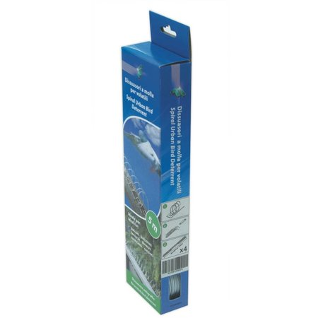 Pigeon repelling spring on STAINLESS STEEL strips MIC327/ alternative for bird spikes - package of 4 springs - good for 5 mt.