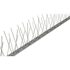Gull bird spikes STAINLESS STEEL strip 66 LONG spikes, MIC313 - 1 m/strip