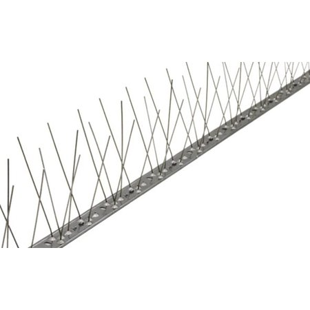 Bird spikes exra LONG against seagulls on STAINLESS STEEL strip of 100 cm,  with 66 SS spikes, MIC313 - 1 m/pc