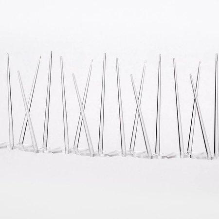 Kunststof duivenpinnen MIC230 op Polycarbonaatstrip 50 cm met 30 POLY- pinnen
