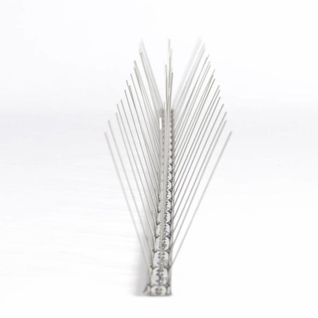 Pigeon bird spikes STAINLESS STEEL strip NON FLEXIBEL 60 spikes, MIC760 - 1 m/strip