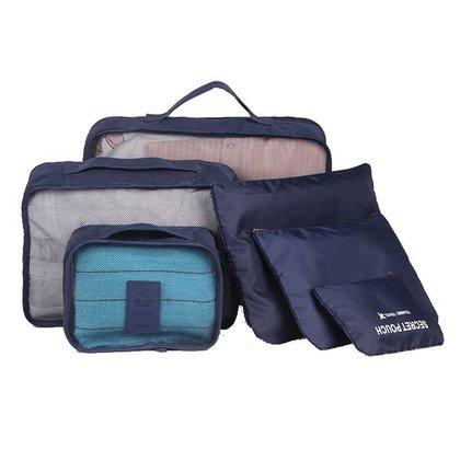 Reisorganizer Set 6 Opbergzakjes Voor In Je Tas Of Koffer