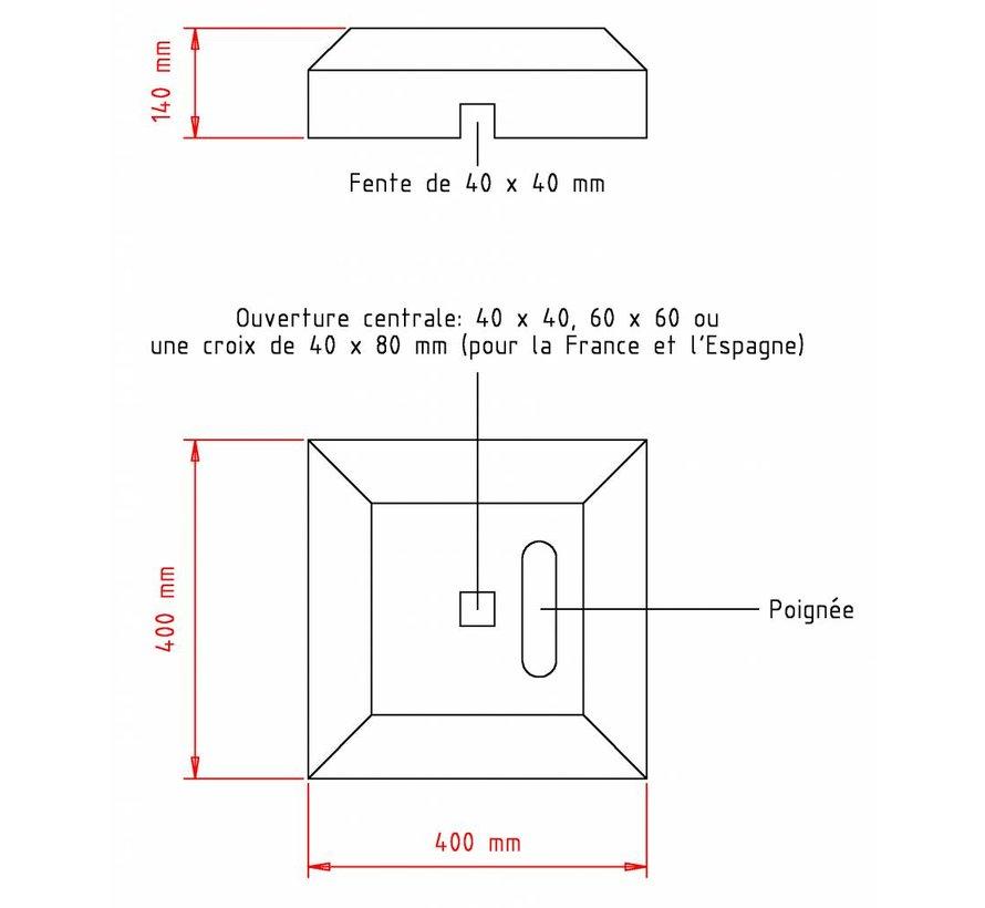 Pied de balise minibloc 15 kg