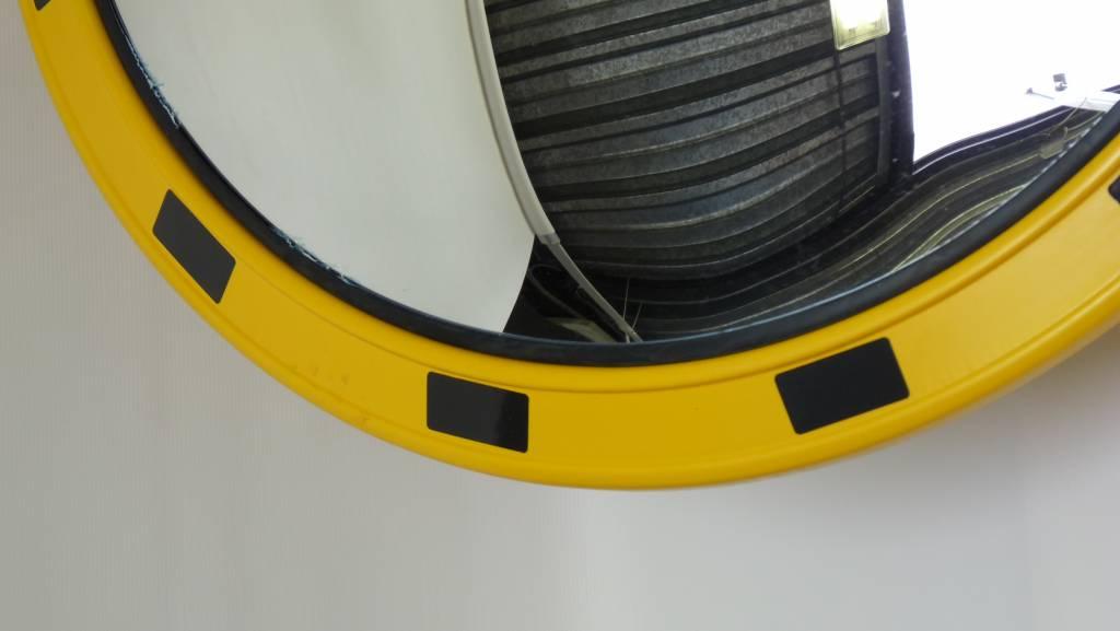 Miroir industriel rond 800 mm en stock must equipement for Miroir jaune