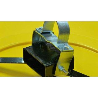 Miroir industriel (Rond) 800 mm - jaune/noir