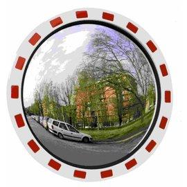 Miroir de sécurité rond 800 mm rouge/blanc