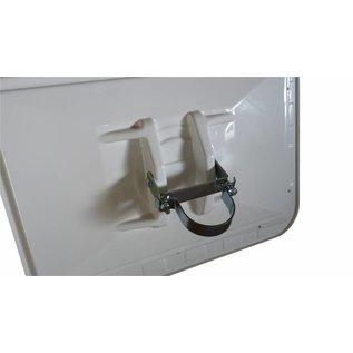 Miroir de sécurité (Rond) 800 mm - rouge/blanc
