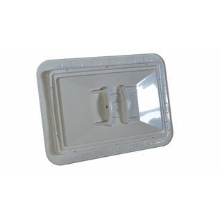 Miroir de sécurité (Rectangle) 1000 x 800 mm - rouge/blanc