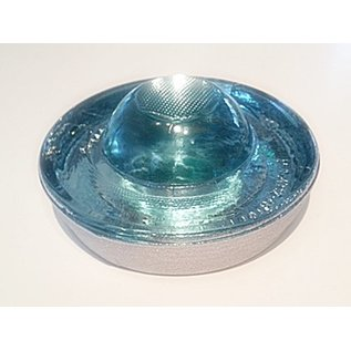 Plot - réflecteur de route en verre trempé - blanc - diamètre 100 mm - hauteur 45 mm