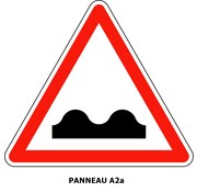 Panneau A2a  Cassis ou dos-d'âne