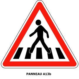 Panneau A13b Passage pour piétons