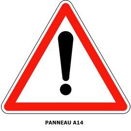 Panneau A14  Autres dangers