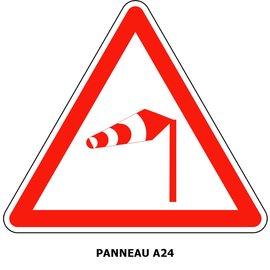 Panneau A24  Vent latéral