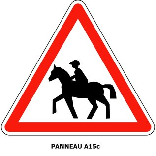 Panneau A15c Passage de cavaliers