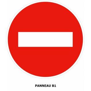 Panneau B1 Sens interdit