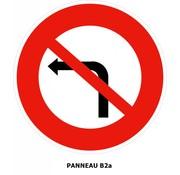 Panneau B2a Interdiction de tourner à gauche