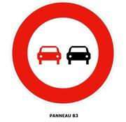 Panneau B3 Interdiction de dépasser