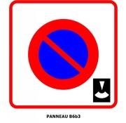 Panneau B6b3  Entrée d'une zone à stationnement avec disque