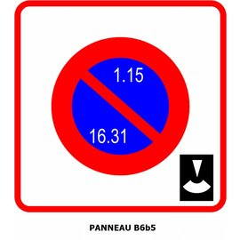 Panneau B6b5 Entrée d'une zone à stationnement unilatéral