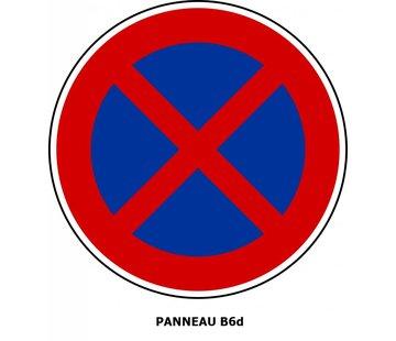 Panneau B6d Arrêt et stationnement interdit