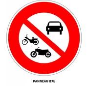 Panneau B7b Accès interdit à tous les véhicules à moteur