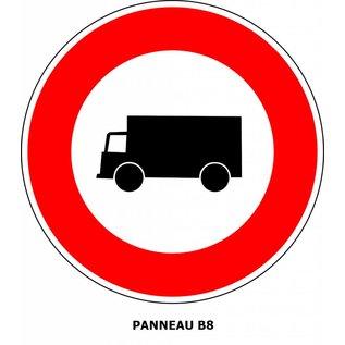 Panneau B8 Interdiction aux poids-lourds