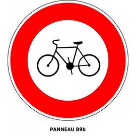 Panneau B9b Interdit l'accès aux vélos