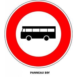 Panneau B9f Interdiction aux véhicules de transport