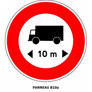 Panneau B10a Limitation de longueur