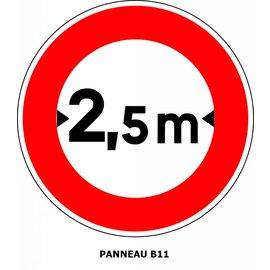 Panneau B11 Limitation de largeur