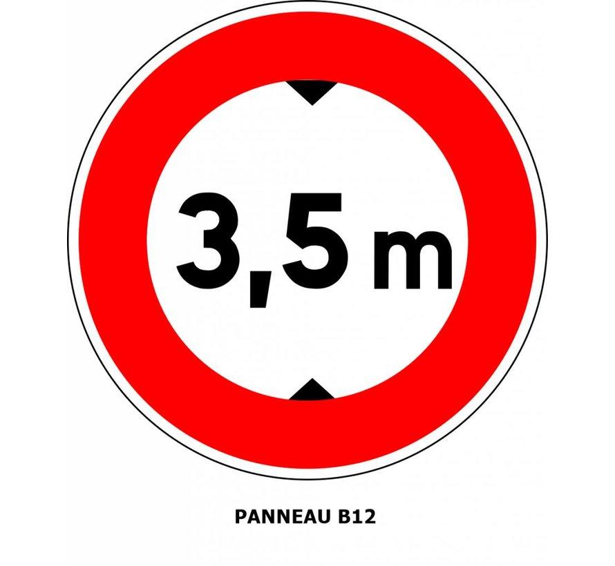 Panneau B12 Limitation de hauteur