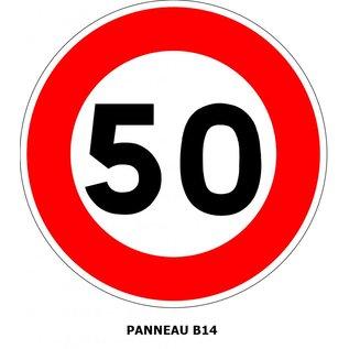 Panneau B14 Limitation de vitesse