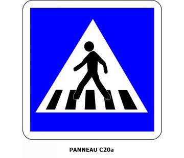 Panneau C20a Passage pour piétons sur chaussée