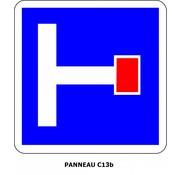 Panneau C13b Présignalisation d'un chemin sans issue