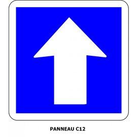 Panneau C12 Circulation à sens unique
