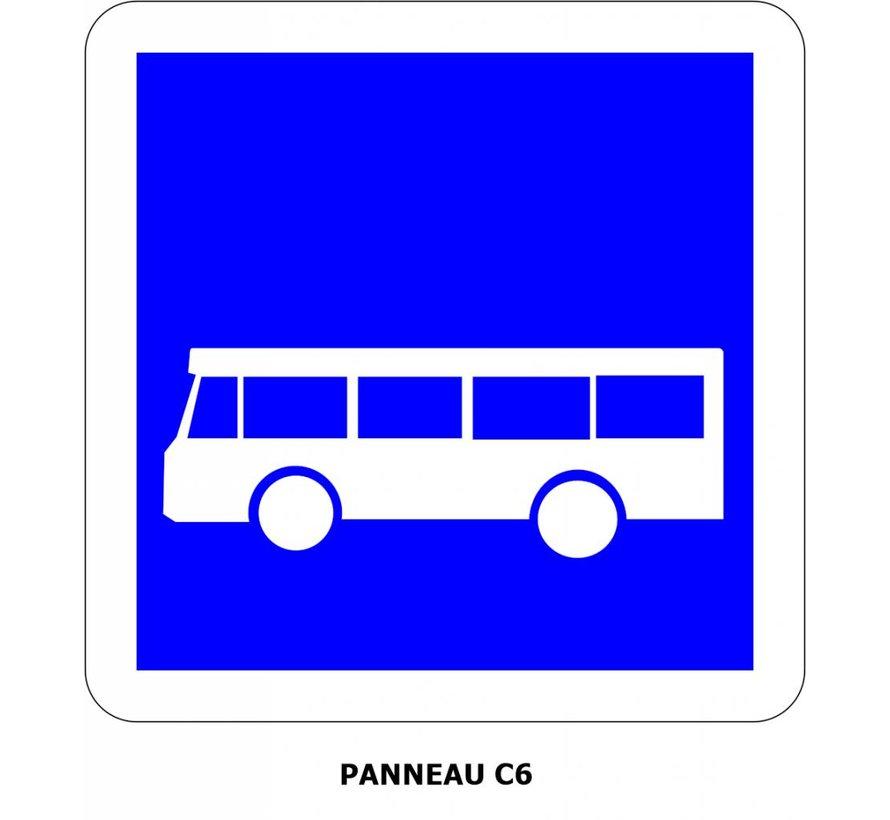 Panneau C6 Arrêt d'autobus