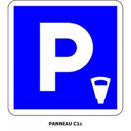 Panneau C1c Stationnement payant