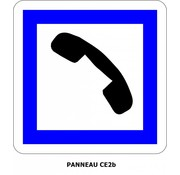 Panneau CE2b Cabine téléphonique